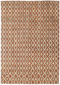 Kilim Modern Rug 201X285 Authentic  Modern Handwoven Light Brown/Brown (Wool, Afghanistan)