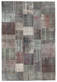 Patchwork Rug 200X298 Authentic  Modern Handknotted Dark Grey/Light Grey (Wool, Turkey)