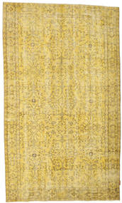 Colored Vintage Rug 162X277 Authentic  Modern Handknotted Yellow/Olive Green (Wool, Turkey)