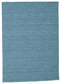Kelim Loom - Sininen Matto 140X200 Moderni Käsinkudottu (Villa, Intia)