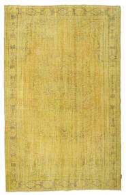 Colored Vintage Rug 176X276 Authentic  Modern Handknotted Yellow/Olive Green (Wool, Turkey)