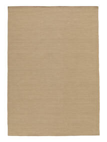 Kelim Loom - Beige Teppe 140X200 Ekte Moderne Håndvevd Lysbrun/Brun (Ull, India)