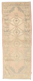 Colored Vintage Rug 103X277 Authentic  Modern Handknotted Hallway Runner  Dark Beige/Beige/Light Brown (Wool, Turkey)