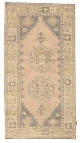 Colored Vintage Teppe 117X226 Ekte Moderne Håndknyttet Lysbrun/Mørk Beige (Ull, Tyrkia)