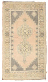 Colored Vintage Rug 114X205 Authentic  Modern Handknotted Beige/Light Grey (Wool, Turkey)