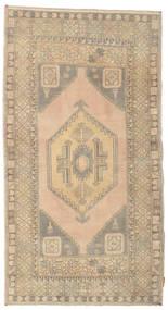 Colored Vintage Teppe 108X198 Ekte Moderne Håndknyttet Lysbrun/Mørk Beige (Ull, Tyrkia)