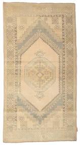 Colored Vintage Rug 118X222 Authentic  Modern Handknotted Beige/Light Brown/Dark Beige (Wool, Turkey)