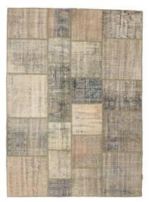 パッチワーク 絨毯 175X243 モダン 手織り 薄茶色/オリーブ色 (ウール, トルコ)