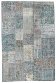 Patchwork Rug 198X298 Authentic  Modern Handknotted Light Grey/Light Blue (Wool, Turkey)