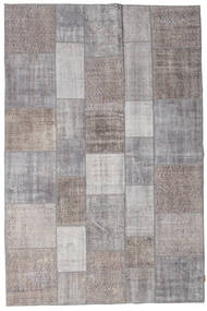 Patchwork Rug 198X298 Authentic  Modern Handknotted Light Grey/Dark Grey (Wool, Turkey)