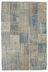Patchwork Rug 196X301 Authentic  Modern Handknotted Light Grey/Dark Grey (Wool, Turkey)
