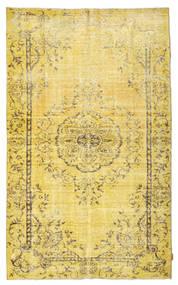 Colored Vintage Matto 166X273 Moderni Käsinsolmittu Keltainen/Tummanbeige (Villa, Turkki)