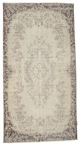 Colored Vintage Rug 108X212 Authentic  Modern Handknotted Dark Beige/Light Grey (Wool, Turkey)