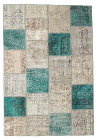 Patchwork Rug 160X232 Authentic  Modern Handknotted Light Brown/Light Grey (Wool, Turkey)