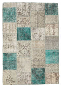 Patchwork Rug 160X232 Authentic  Modern Handknotted Light Grey/Light Brown (Wool, Turkey)