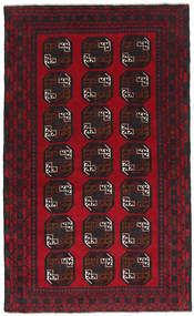 Baluch Rug 114X191 Authentic Oriental Handknotted Black/Dark Red/Crimson Red (Wool, Afghanistan)