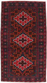 Baluch Rug 99X185 Authentic  Oriental Handknotted Dark Red (Wool, Afghanistan)