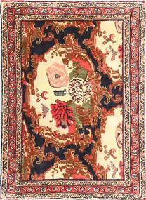 Senneh Vloerkleed 57X80 Echt Oosters Handgeknoopt Donkerbruin/Beige (Wol, Perzië/Iran)