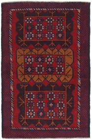 Beluch Matta 85X136 Äkta Orientalisk Handknuten Mörkröd/Mörklila (Ull, Afghanistan)