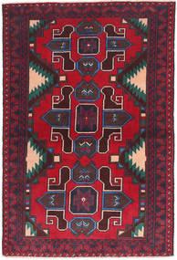 Beluch Matta 91X143 Äkta Orientalisk Handknuten Mörkröd/Mörklila (Ull, Afghanistan)