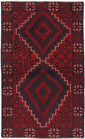 Beludż Dywan 107X189 Orientalny Tkany Ręcznie Ciemnobrązowy/Ciemnoczerwony (Wełna, Afganistan)