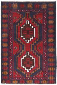 バルーチ 絨毯 88X130 オリエンタル 手織り 濃いグレー/錆色 (ウール, アフガニスタン)