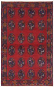 Beludż Dywan 110X185 Orientalny Tkany Ręcznie Ciemnoczerwony/Czarny (Wełna, Afganistan)