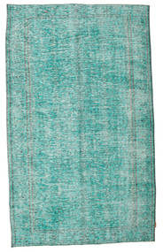 Colored Vintage Rug 175X290 Authentic  Modern Handknotted Turquoise Blue/Turquoise Blue (Wool, Turkey)