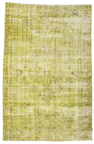 Colored Vintage Rug 170X272 Authentic  Modern Handknotted Yellow/Olive Green (Wool, Turkey)