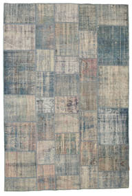 Patchwork Rug 203X301 Authentic  Modern Handknotted Dark Grey/Light Grey/Light Brown (Wool, Turkey)
