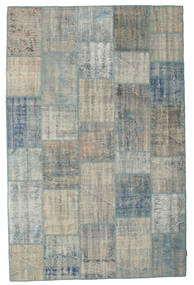 Patchwork Rug 194X299 Authentic  Modern Handknotted Light Grey/Dark Grey (Wool, Turkey)