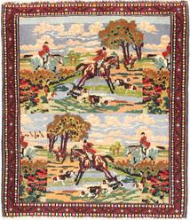 Senneh Rug 72X90 Authentic  Oriental Handknotted Brown/Dark Brown (Wool, Persia/Iran)