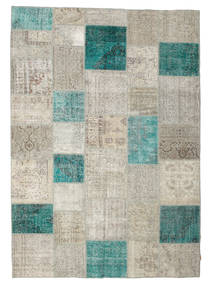 Patchwork Rug 240X342 Authentic Modern Handknotted Light Grey/Light Brown (Wool, Turkey)