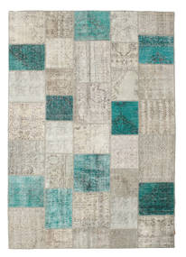 Patchwork Rug 238X342 Authentic  Modern Handknotted Light Grey (Wool, Turkey)