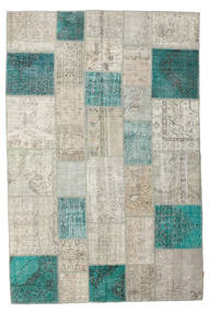 Patchwork Rug 201X302 Authentic Modern Handknotted Light Grey/Dark Beige (Wool, Turkey)