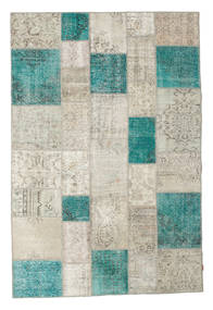 Patchwork Rug 200X300 Authentic  Modern Handknotted Light Grey/Dark Beige (Wool, Turkey)