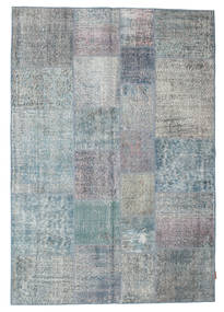 Patchwork Rug 170X245 Authentic  Modern Handknotted Light Grey/Dark Grey (Wool, Turkey)
