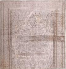 Colored Vintage Tapis 290X300 Moderne Fait Main Carré Rose Clair/Beige Grand (Laine, Perse/Iran)