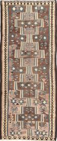 Kilim Fars Tapis 135X335 D'orient Tissé À La Main Tapis Couloir Marron Clair/Gris Foncé (Laine, Perse/Iran)