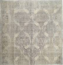 Colored Vintage Rug 298X308 Authentic  Modern Handknotted Square Light Grey Large (Wool, Persia/Iran)