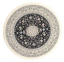 Nain Emilia - Ciemnoniebieski Dywan Ø 150 Orientalny Okrągły Jasnoszary/Beżowy ( Turcja)