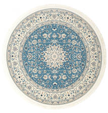 Nain Emilia - Hellblau Teppich Ø 150 Orientalischer Rund Beige/Hellgrau ( Türkei)