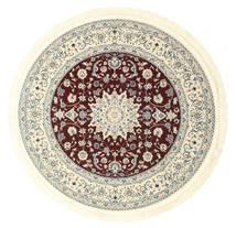 Nain Emilia - Dark Red Rug Ø 150 Oriental Round Beige/Light Grey ( Turkey)