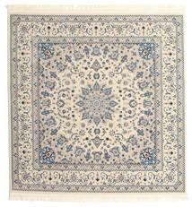 Naïn Emilia - Cream/Clair Bleu Tapis 150X150 D'orient Carré Beige/Gris Clair ( Turquie)