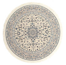 Nain Emilia - Beige/Blue Rug Ø 200 Oriental Round Light Grey/Beige ( Turkey)