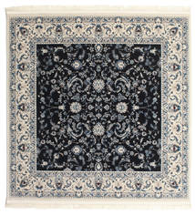 Nain Florentine - Dark Blue Rug 200X200 Oriental Square Light Grey/Black ( Turkey)