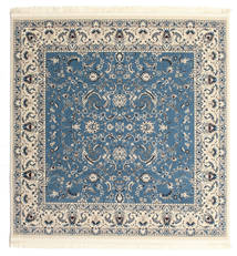 Nain Florentine - Light Blue Rug 200X200 Oriental Square Light Grey/Beige/Blue ( Turkey)