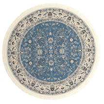 Naïn Florentine - Bleu Clair Tapis Ø 200 D'orient Rond Gris Clair/Beige/Bleu ( Turquie)