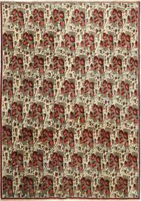 Afszar/Sirjan Dywan 238X333 Orientalny Tkany Ręcznie Ciemnobrązowy/Jasnoszary (Wełna, Persja/Iran)