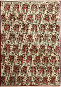 Afshar/Sirjan Teppe 238X333 Ekte Orientalsk Håndknyttet Mørk Brun/Lys Grå (Ull, Persia/Iran)